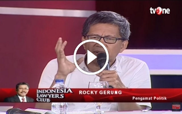[Video] Pernyataan ROCKY GERUNG yang Berani dan Tajam mendapat Applaus Luas di ILC tvOne soal REKLAMASI