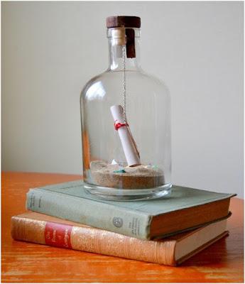 el yapımı mini sürpriz mesaj şişesi
