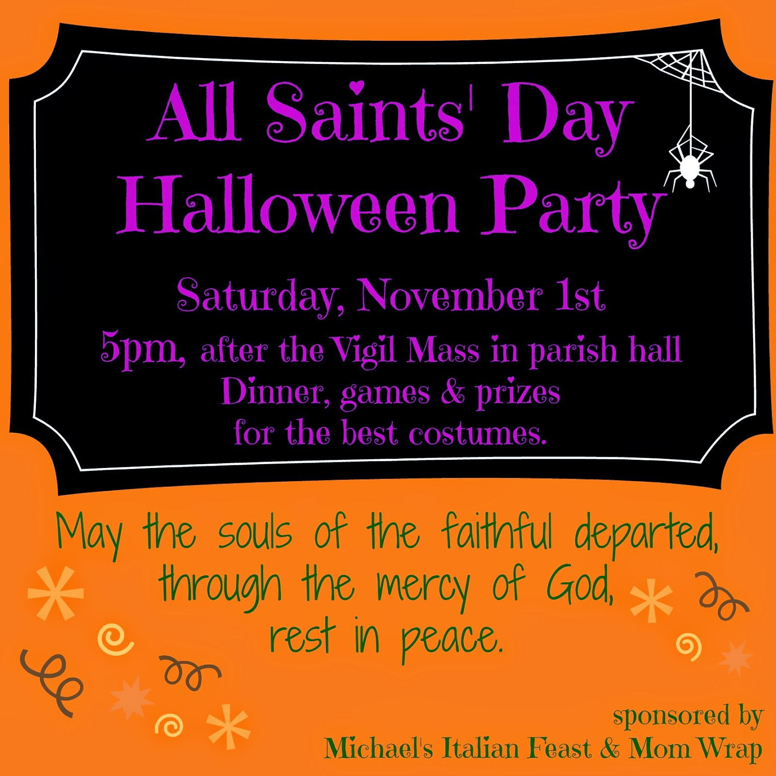 all saints day party recap