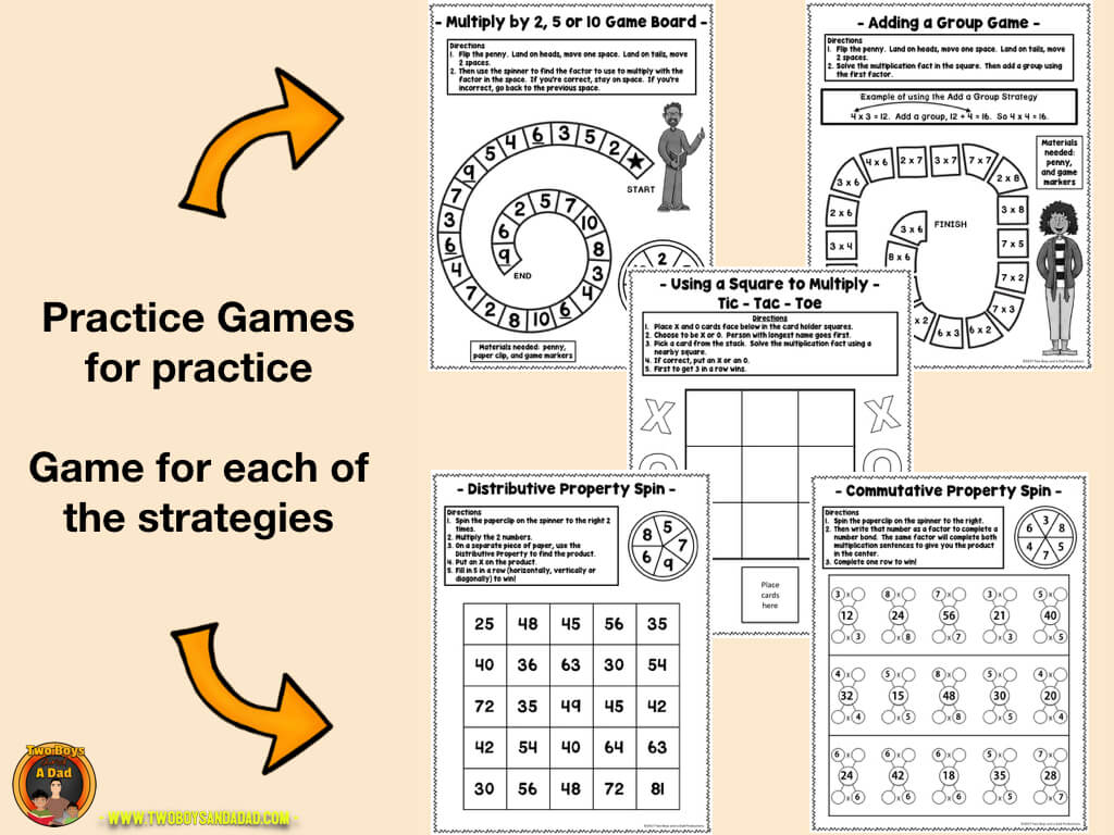 Multiplication Fact Fluency practice games