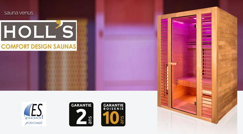 Compra tu sauna Venus de Holl´s en Espool Piscinas
