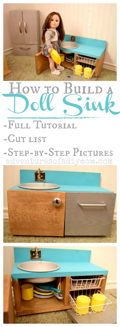How to Build a Doll Sink and Dishwasher Cabinet