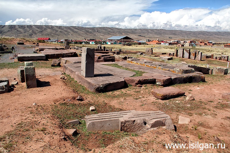 Древний город Тиуанако. Боливия