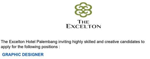 Lowongan Kerja Palembang Terbaru Maret 2018 The Excelton Hotel Palembang Webbudi Com