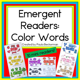 https://www.teacherspayteachers.com/Product/Color-Words-Emergent-Readers-for-Guided-Reading-2727117