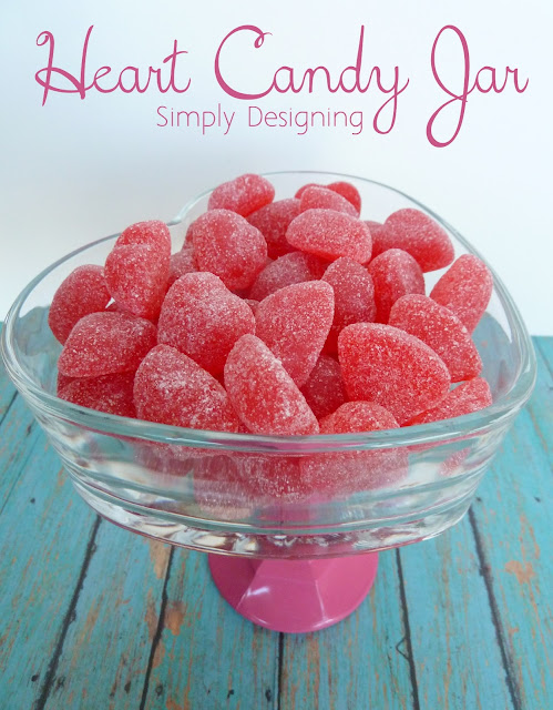 DIY Heart Candy Jar