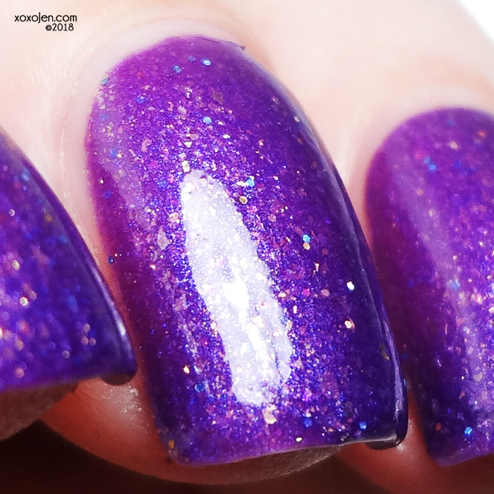 xoxoJen's swatch of Sassy Cats Lacquer 99 problems but a prince ain't 1