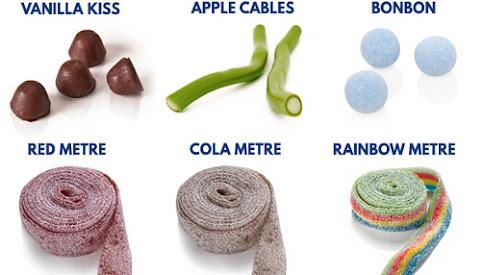 Żelki, cukierki, Candy King (lista)