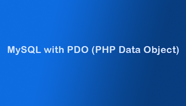 koneksi php ke mysql dengan pdo