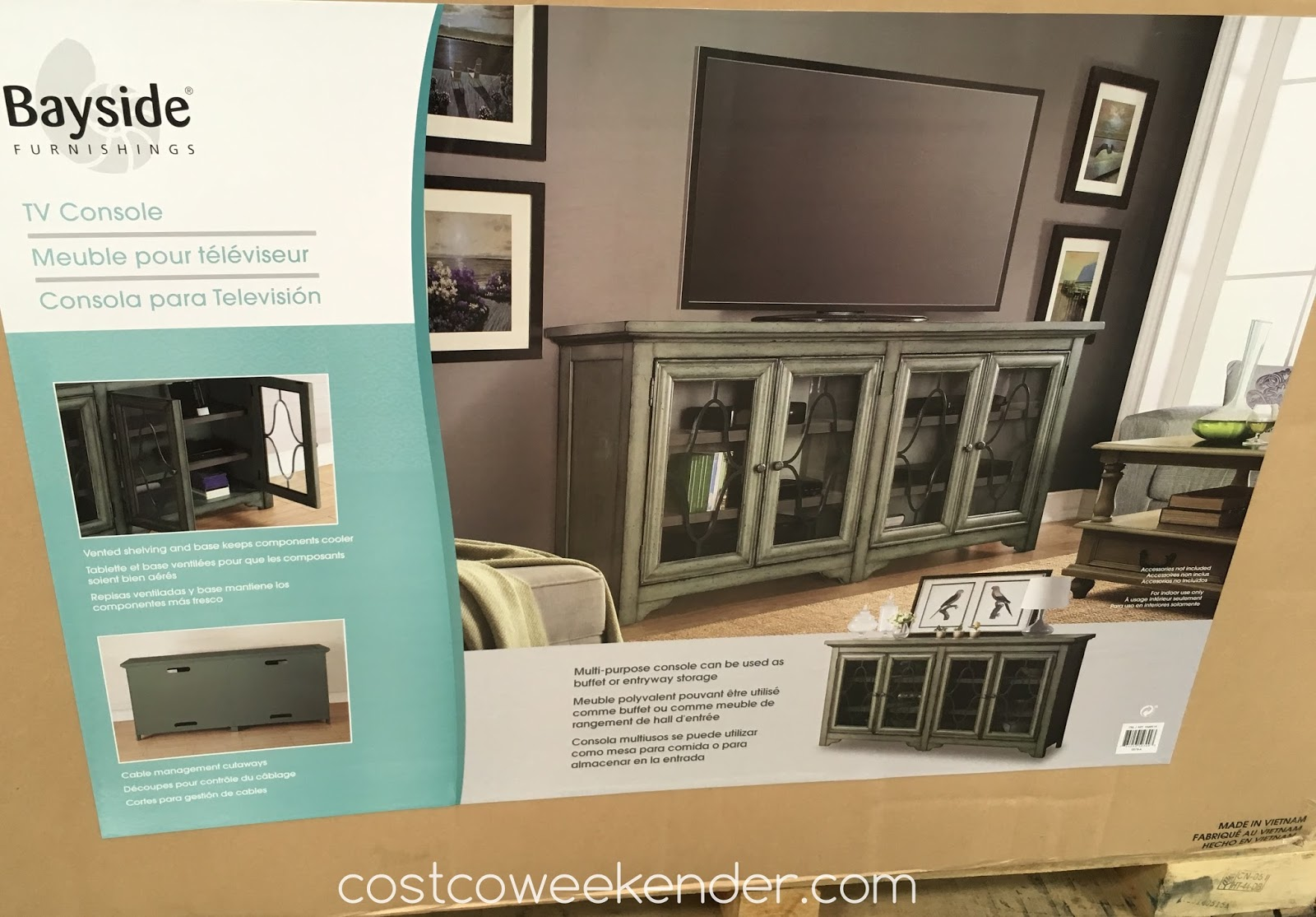 Bayside Furnishings Accent Tv Console Costco Weekender