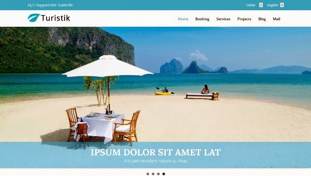 Turistik - Travel Guide Bootstrap Template