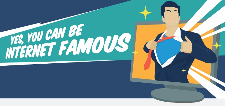 What Makes People Internet Famous - How to go viral on social media - infographic