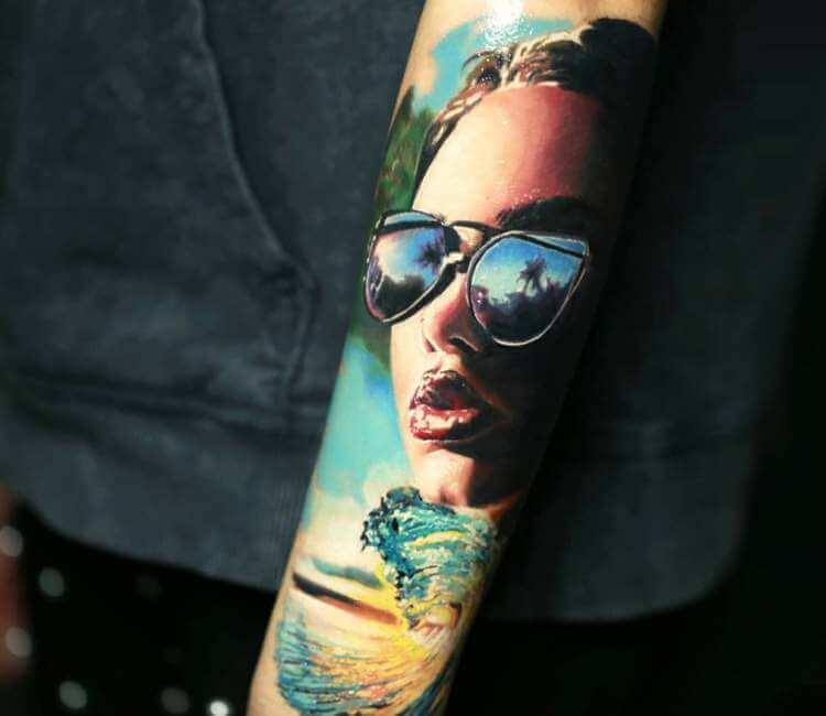 Tatuaje de un rostro