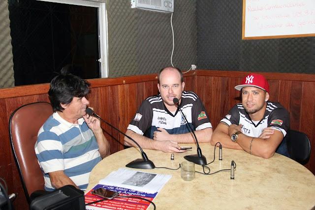 Técnico Djone e Abner participam de entrevista para a Rádio São Francisco