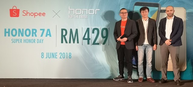 Honor 7A is a no-frills FullView smartphone priced under RM500