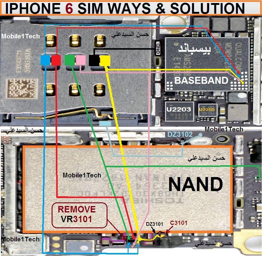 Iphone 6 All Schematic Diagram 100  Working Jumper