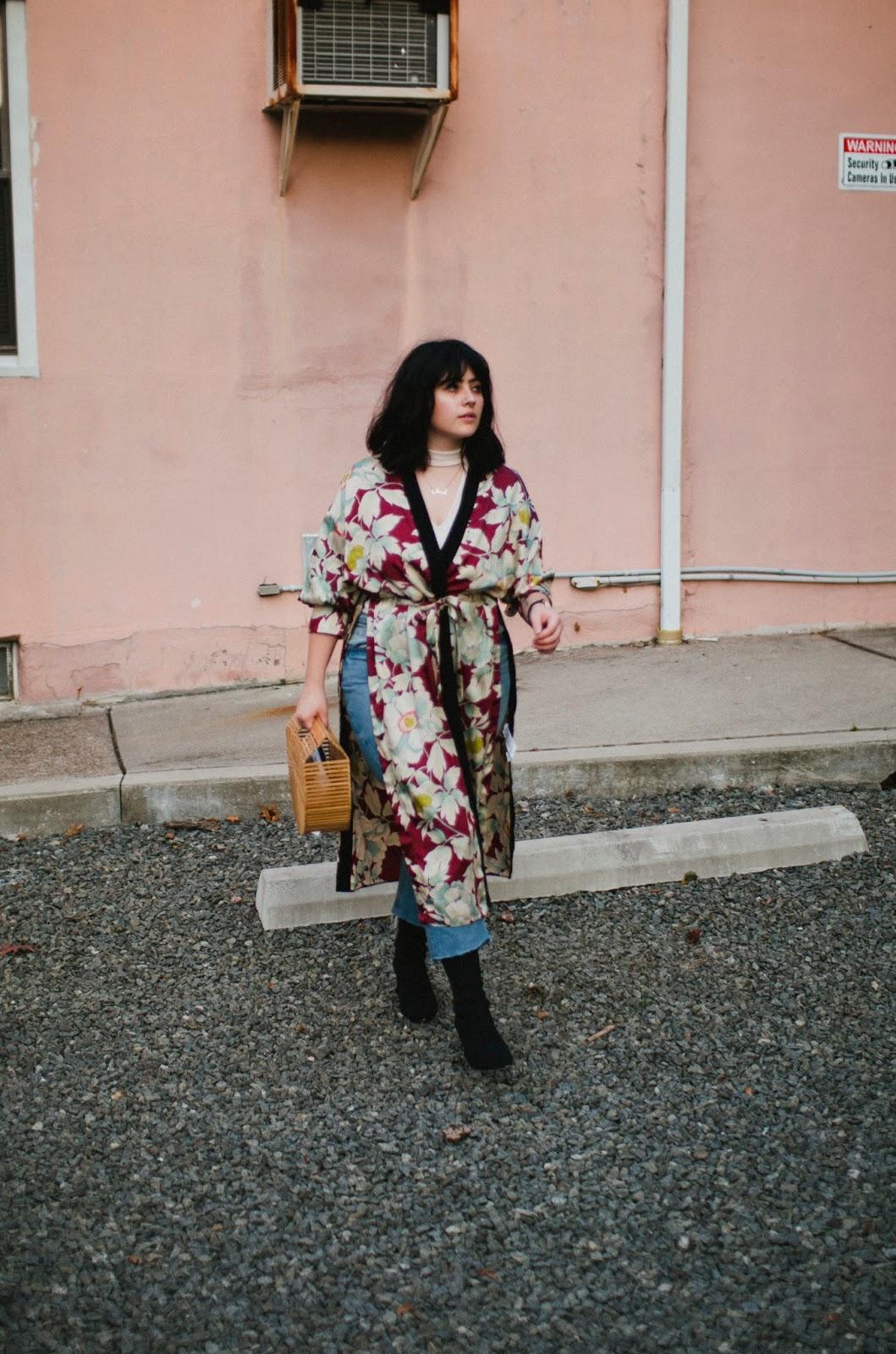 zara, kimono, autumn, fall, fashion, street, style