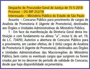 Edital MPSP 2018 - Analista de Promotoria II (Agente de Promotoria)