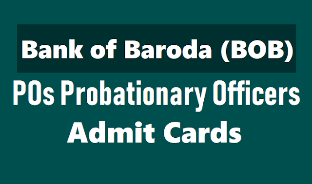 bank of baroda (bob) pos admit cards 2018 for bank of baroda po exam released at bankofbaroda.com,bob admit card,bob po admit card,bob admit card 2018,bank of baroda po admit card,bob po hall tickets