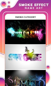 Smoke Effect Name Art APK