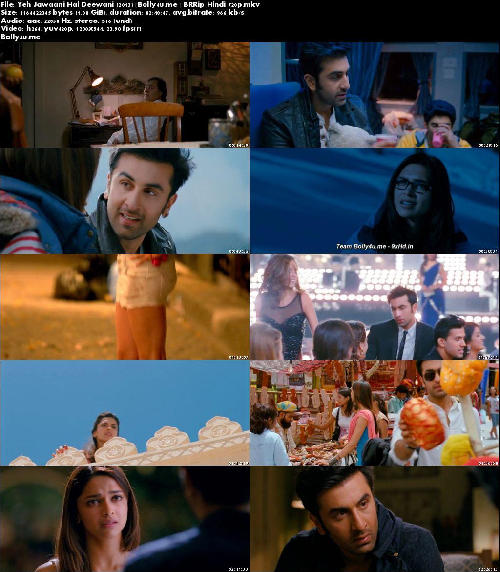 Yeh Jawaani Hai Deewani 2013 BRRip 450MB Hindi 480p Download