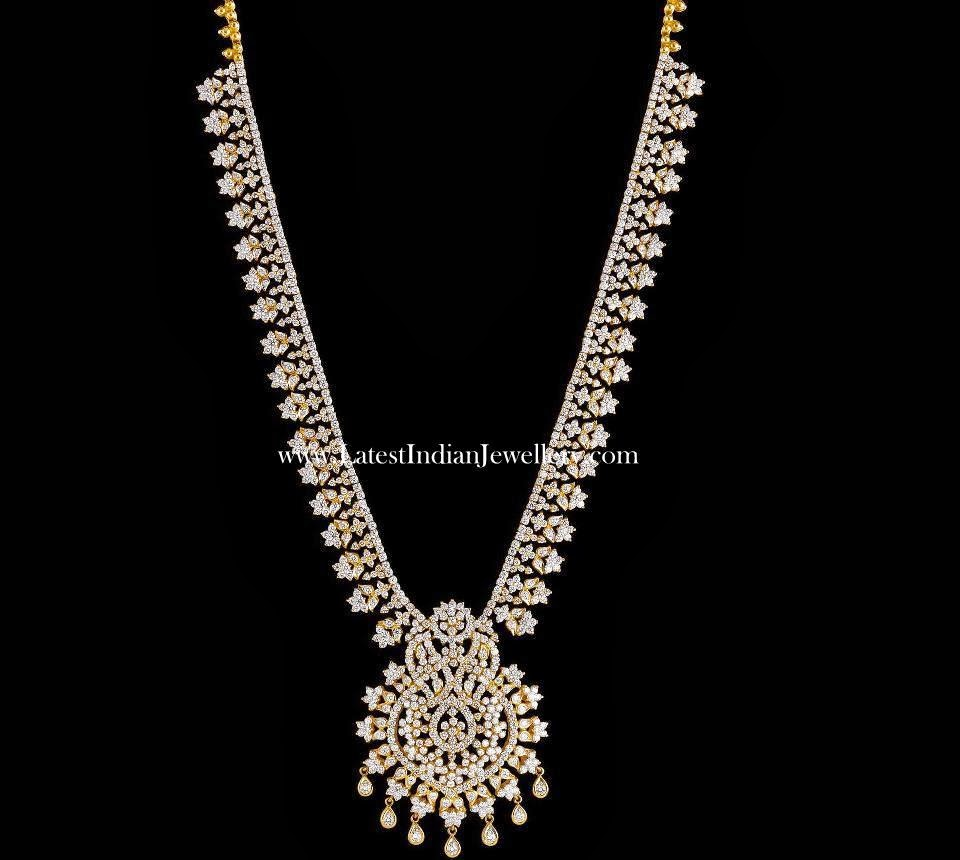 Diamond Long necklace Design