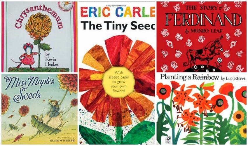 Books used for flower theme- weekly home preschool