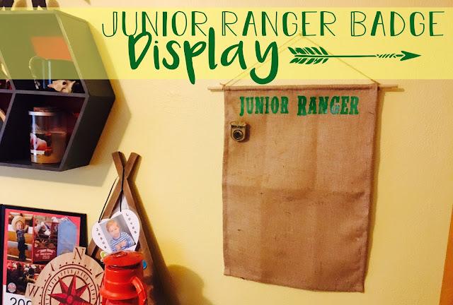 Junior Ranger Badge Display