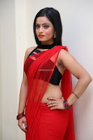 Aasma Syed in Red Saree Sleeveless Black Choli Spicy Pics ~  Exclusive Celebrities Galleries 015.jpg
