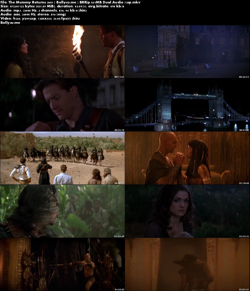 The Mummy Returns 2001 BRRip 400MB Hindi Dual Audio 480p Download
