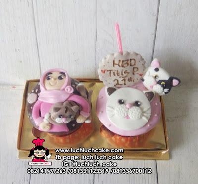 Cupcake Kucing Lucu