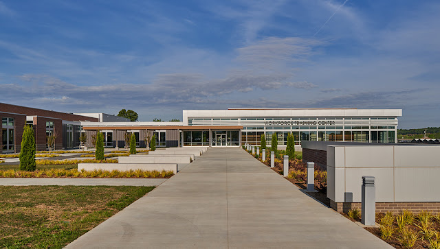exterior of Workforce Training Center and courtyard