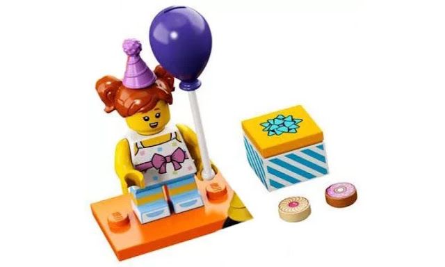 Lego Collectible Minifigures Series 18: Purple Balloon Party Attendee