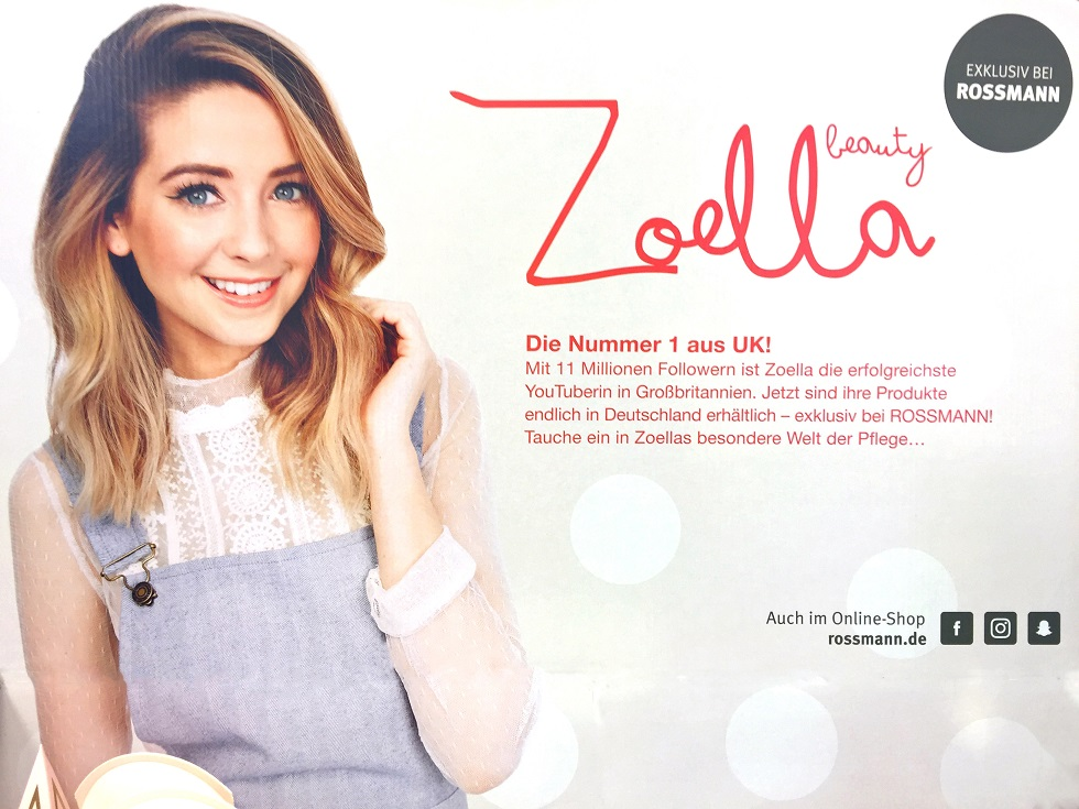 ... : Zoella Beauty exklusiv bei Rossmann - Theke, Preise & Video