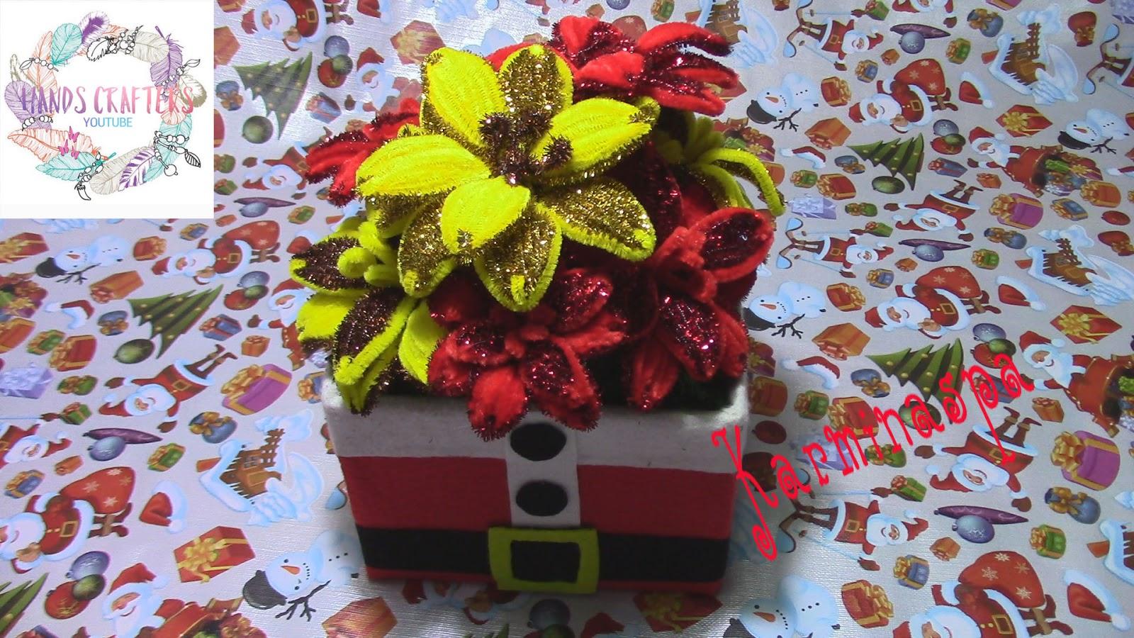 Diy y manualidades f ciles para decorar en navidad como hacer centro de mesa papa noel - Manualidades para decorar en navidad ...