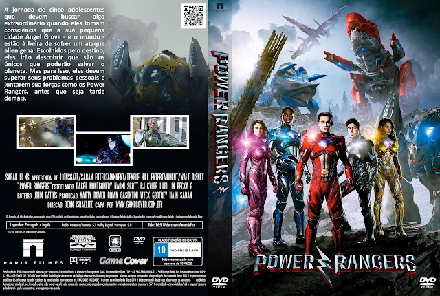 Capa DVD Power Rangers 2017 [Exclusiva]