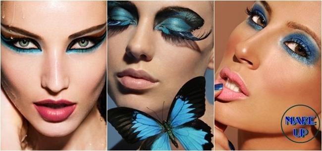 dramatic blue eye makeup