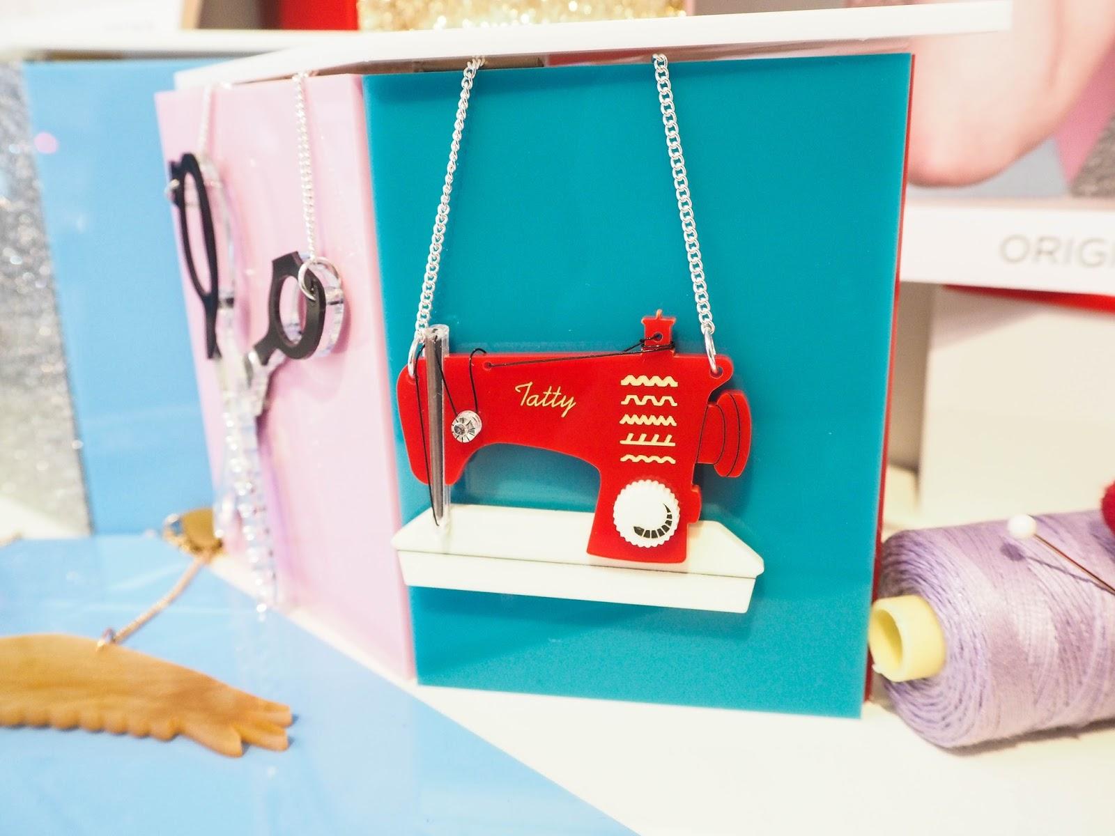Tatty Devine sewing machine necklace AW16