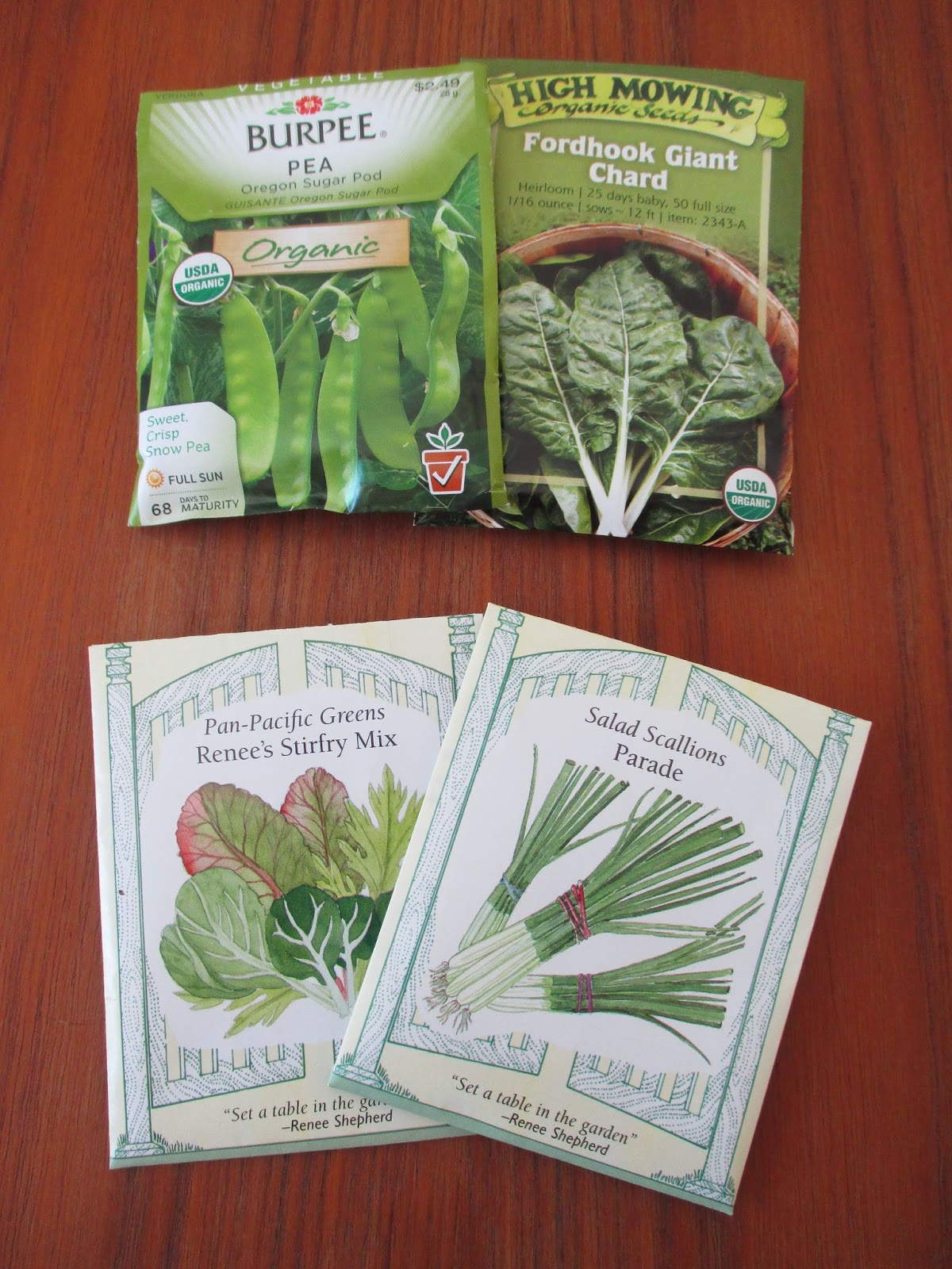 seed packets spring planting