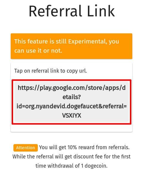 Langkah yang ketiga dan yang terakhir yaitu mengundang teman menggunakan Link Refferal dan suruh teman Anda untuk Memasukkan Kode Refferal Anda.