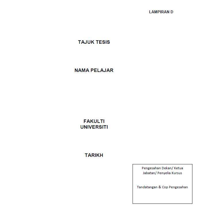 contoh salinan muka depan tesis