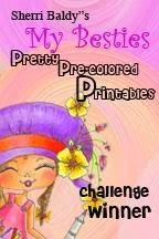 Yay!! I'm a winner at My Besties Pretty Pre-coloured Printables #6