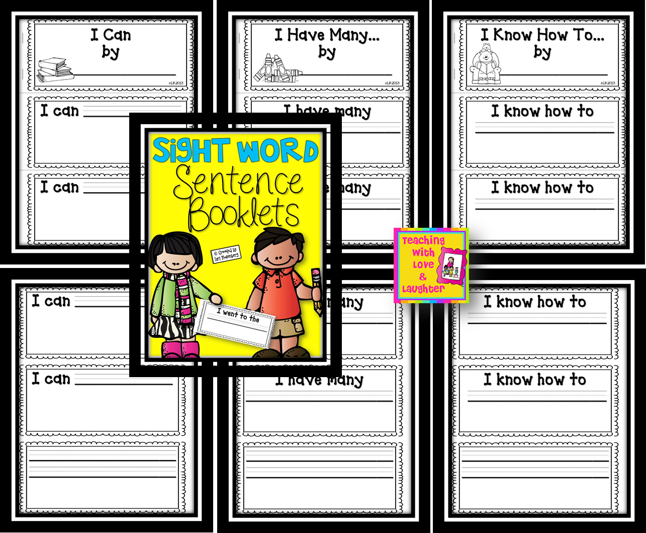 Teaching With Love And Laughter Sight Word Cvc Word Sentence Booklets