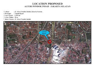 Jual Tanah Jalan Sultan Iskandar Muda, Kebayoran Lama. Luas 2593 m2