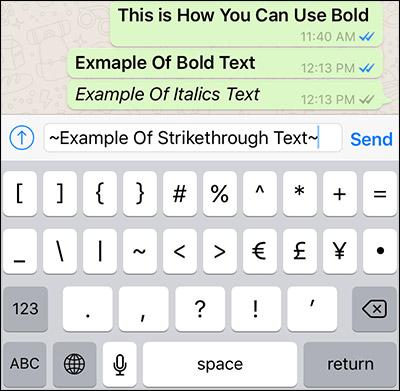 كيفية الكتابة بالخط مشطوب على الكلمة Strikethrough فى الواتساب