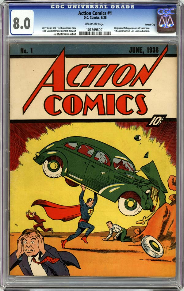 CGC slabbed copy of 'Action Comics' #1