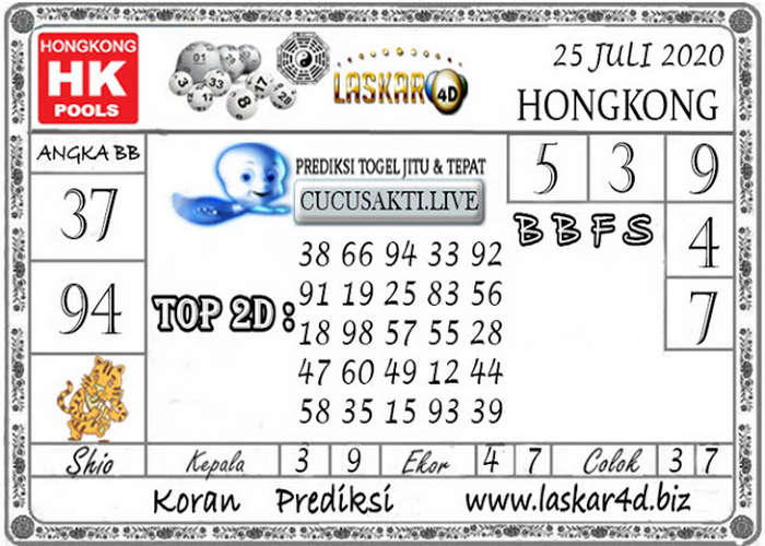 Kode syair Hongkong Sabtu 25 Juli 2020 277