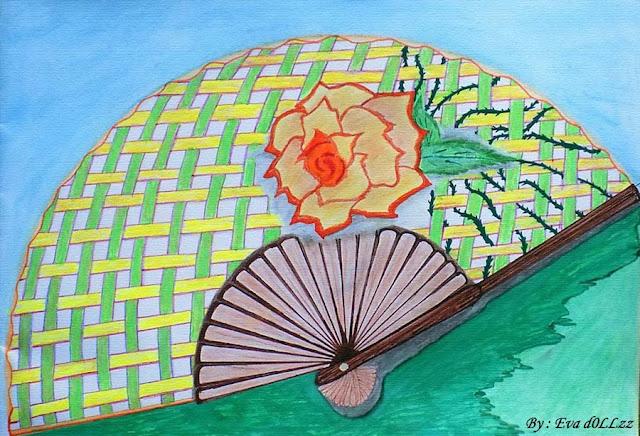 Gambar kipas mawar wangi nan berduri. Creativity - Menggambar - Memotret - Memasak