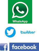 Download logo whatsapp, facebook dan twitter vector CDR