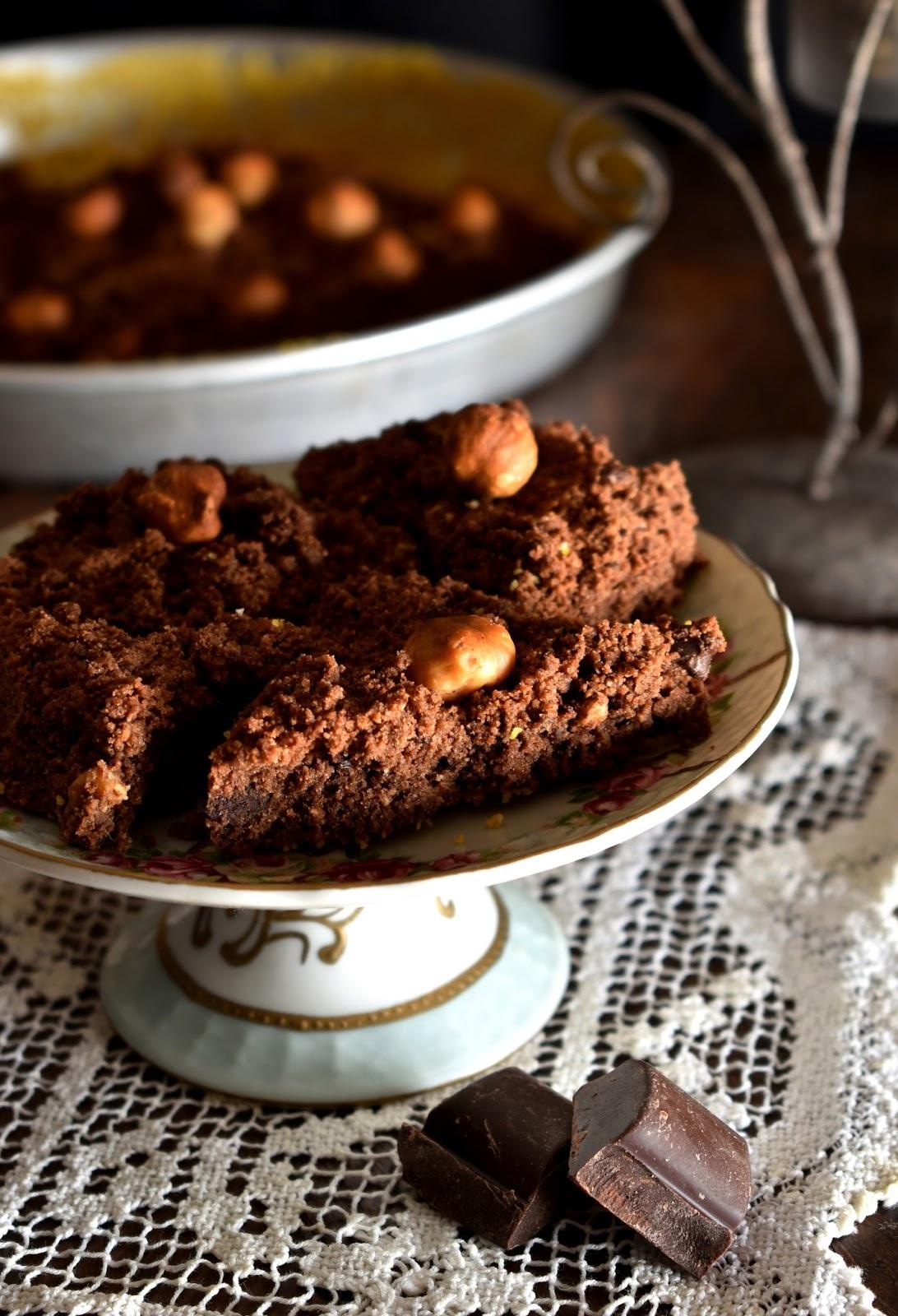 Sbrisolona al cacao e nocciole